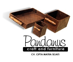 handicraft - Pandanus Square Bowl set of 3